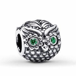 Pandora Wise Owl with Green Eyes